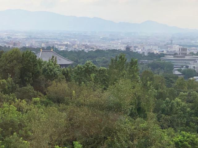 奈良の遠景