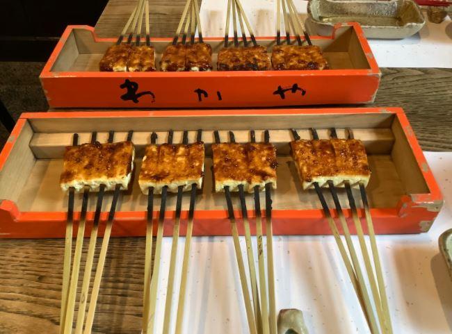 伊賀上野の豆腐田楽